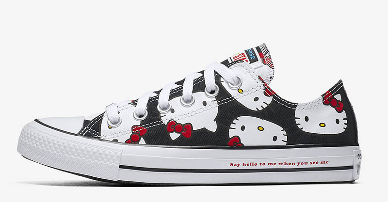 Converse x Hello Kitty Chuck Taylor All Star Canvas Low Top Sneaker $65