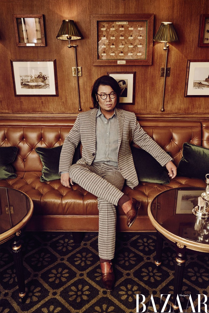 Crazy Rich Asians author Kevin Kwan wears Fendi jacket and pants