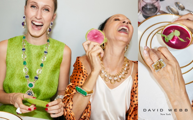 Anna and Pat Cleveland star in David Webb Everyday Revelry campaign