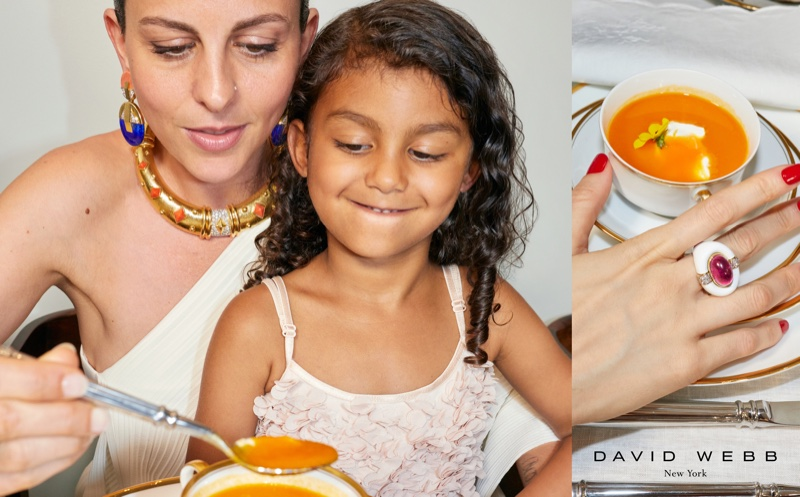 Nina Clemente and her daughter front David Webb Everyday Revelry campaign