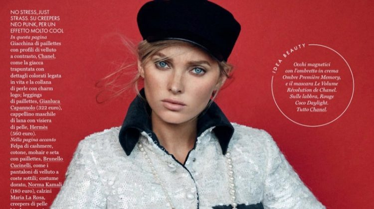 Elsa Hosk Takes On New Season Trends for ELLE Italy