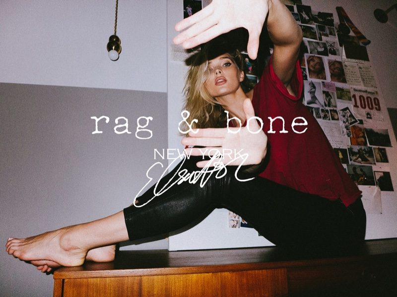 Elsa Hosk stars in Rag & Bone DIY Project