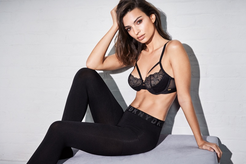 Emily Ratajkowski is known for her racy Instagram snaps so it made perfect sense for her to appear in DKNY Intimates campaign. The model-actress also announced the launch of her own lingerie label in 2019 called, Inamorata BODY. Photo: DKNY Intimates