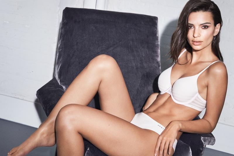 Model Emily Ratajkowski fronts DKNY Intimates fall-winter 2018 campaign