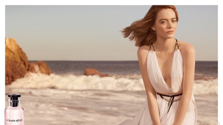 Emma Stone stars in Louis Vuitton Attrape-Rêves fragrance campaign