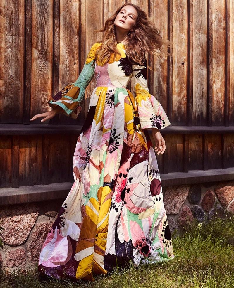Eniko Mihalik Wears Dreamy Boho Styles in Harper's Bazaar