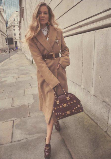 Eniko Mihalik Models Office Ready Outfits in Harper's Bazaar UK