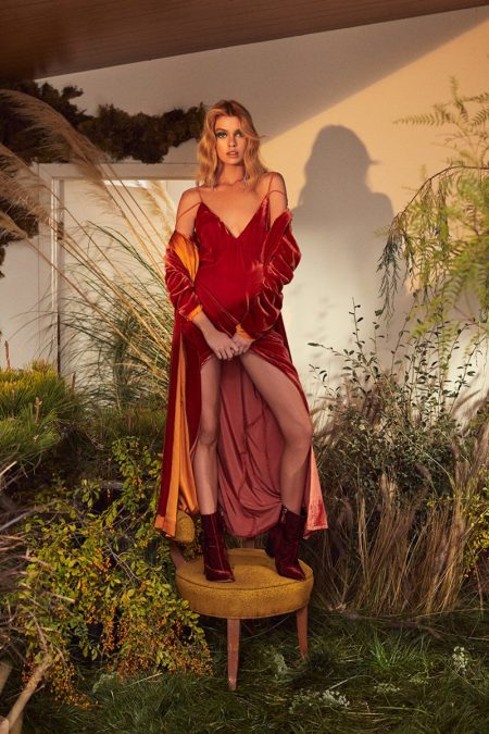 Stella Maxwell Poses in For Love & Lemons' 70s Styles for Fall 2018