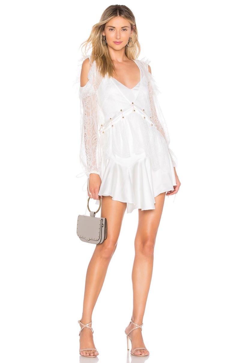 For Love & Lemons Sabina Layered Mini Dress $290