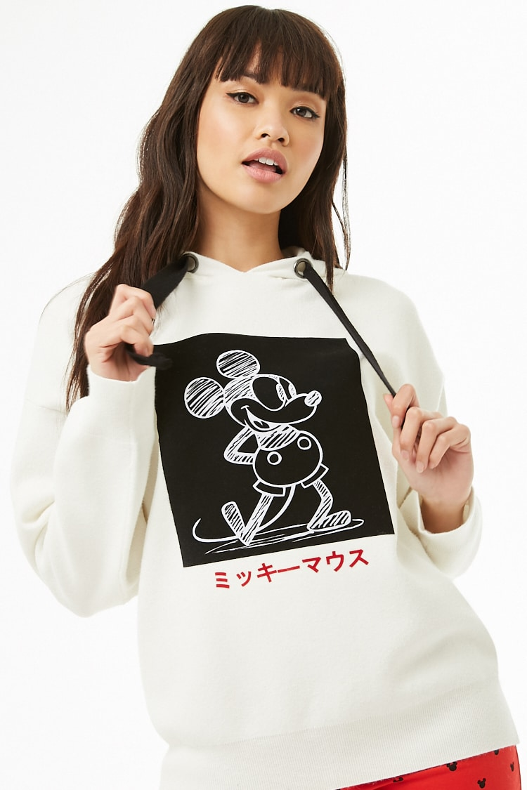 Forever 21 x Mickey Mouse Hooded Sweater $34.90