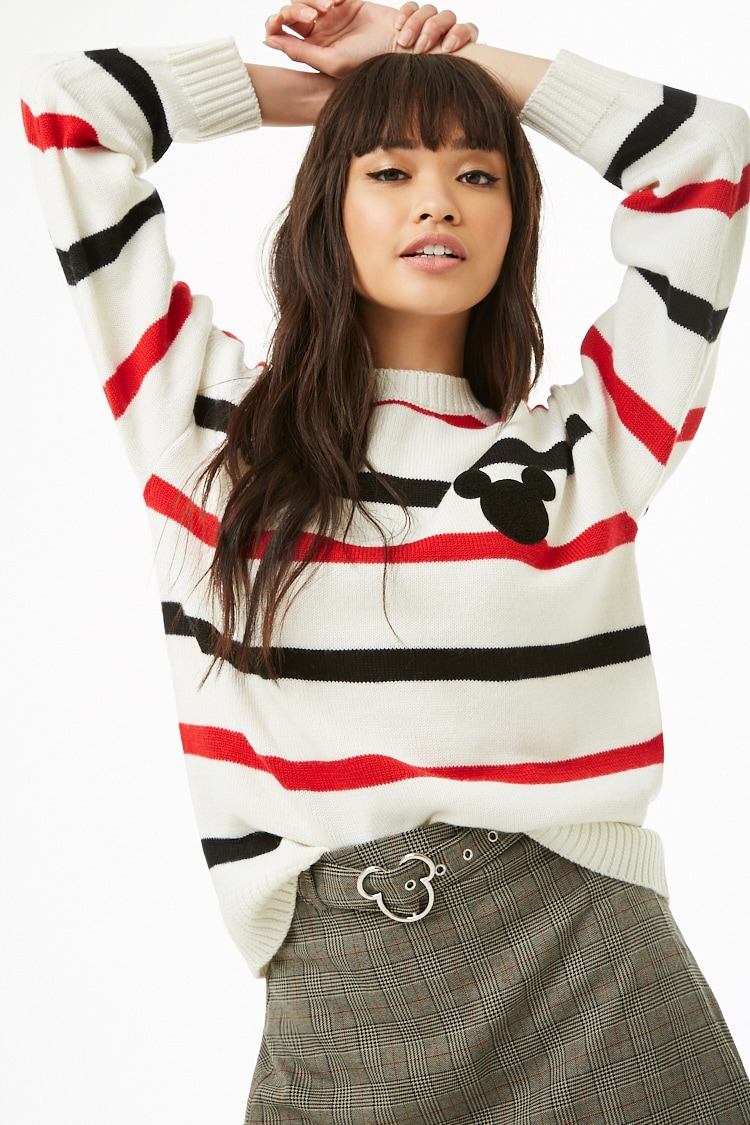 Forever 21 x Mickey Mouse Striped Sweater $32.90