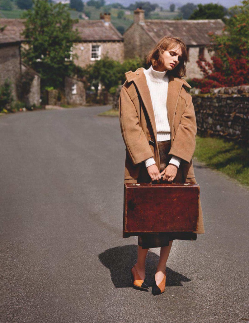 Fran Summers Returns to Her Hometown in Autumn Style for Vogue UK