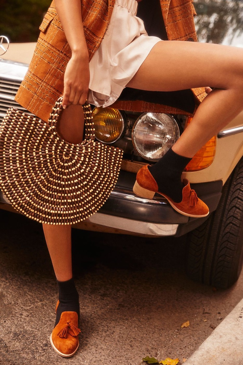 Free People Ibiza Beaded Tote Bag and Jeffrey Campbell Charles Slip On Loafer