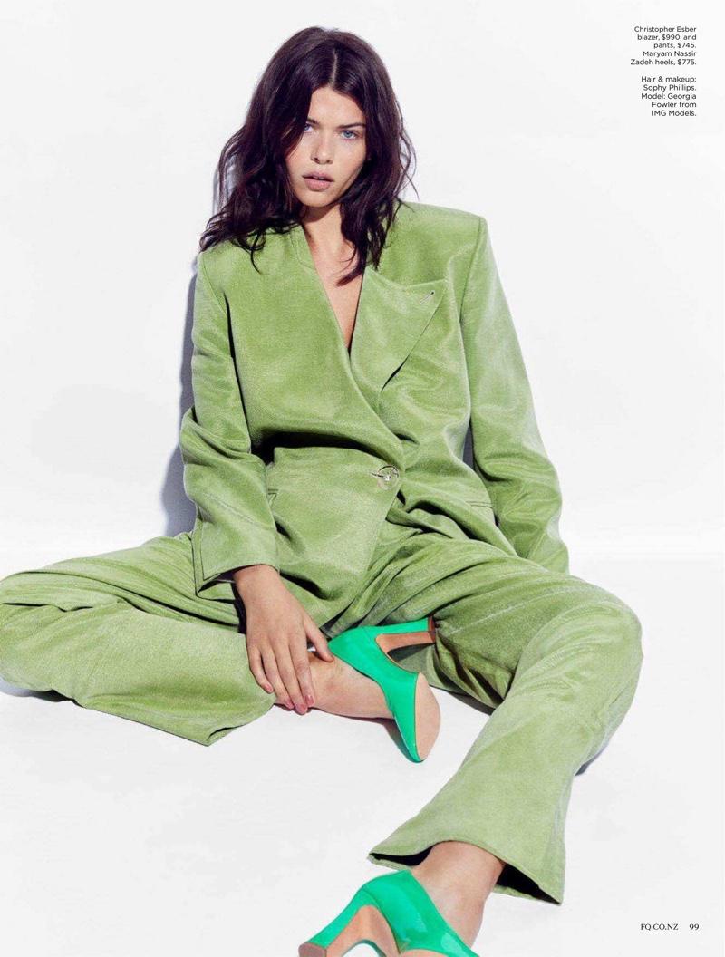 Georgia Fowler Models Rainbow Styles for Fashion Quarterly