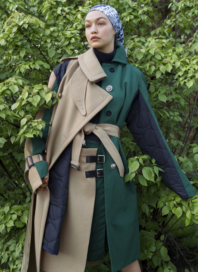 Gigi Hadid Layers Up in Chic Outerwear for Vogue