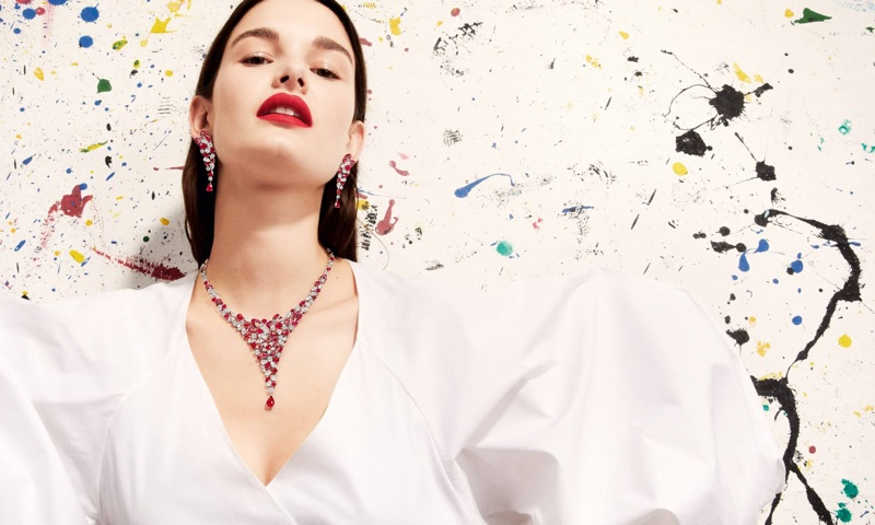 Ophelie Guillermand stars in Graff Diamonds 'Work of Art' 2018 campaign