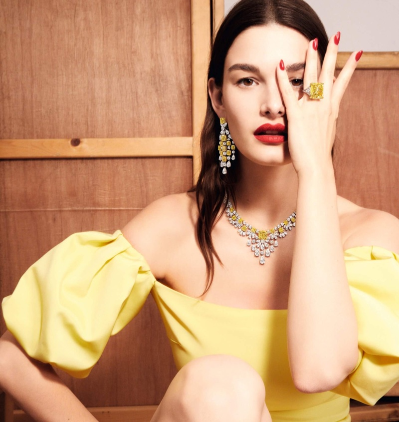 Graff Diamonds features yellow and white diamond pieces in its Work of Art campaign