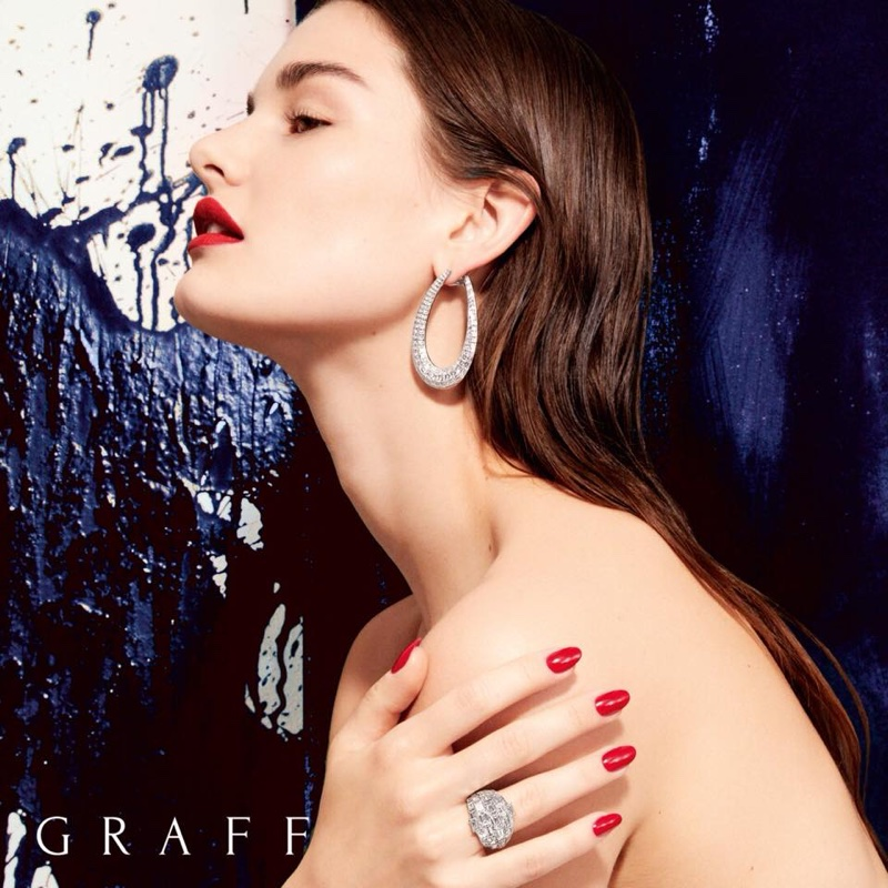Ophelie Guillermand fronts Graff Diamonds Work of Art campaign