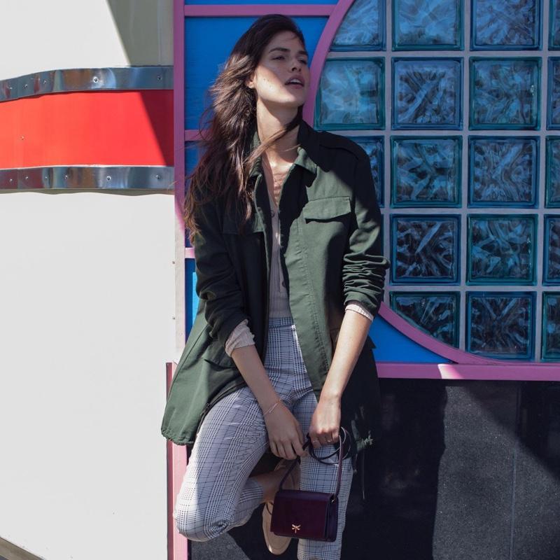 H&M Long Utility Jacket, Ribbed Top and Slacks