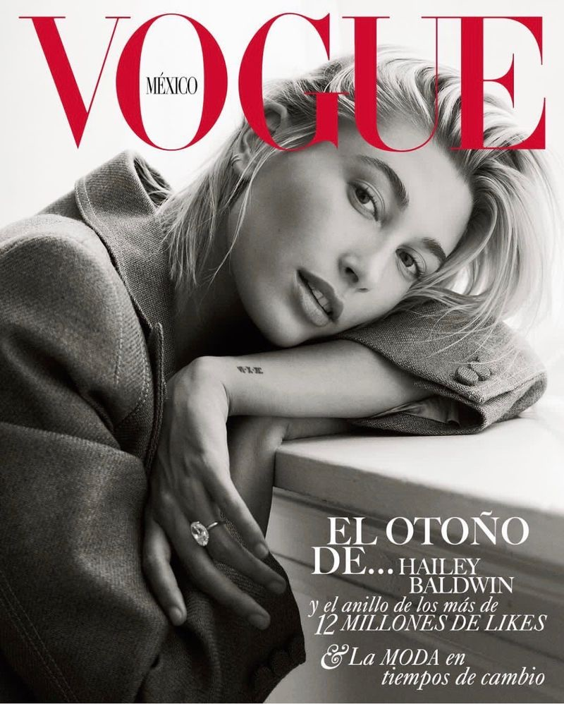Hailey Baldwin Chills in Relaxed Styles for Vogue Mexico