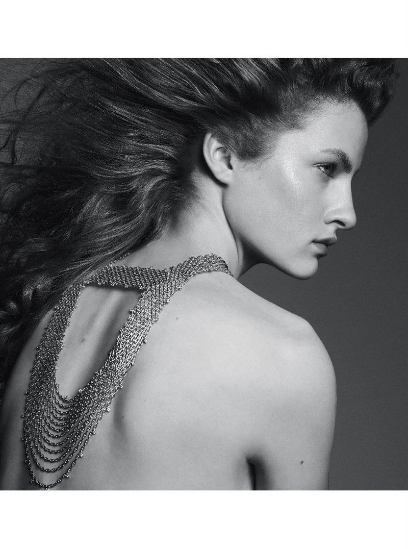 Model Felice Noordhoff appears in Hermes Enchainements Libres jewelry campaign