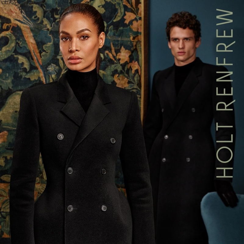 Joan Smalls and Simon Nessman front Holt Renfrew fall-winter 2018 campaign