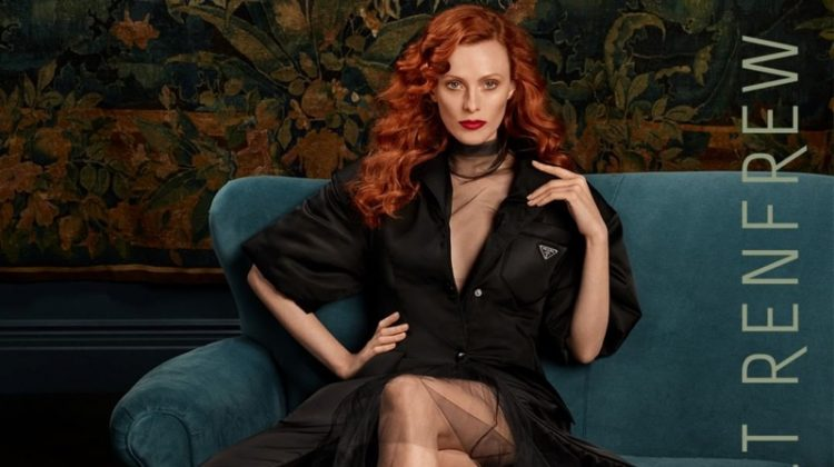 Model Karen Elson wears Prada look in Holt Renfrew fall-winter 2018 campaign