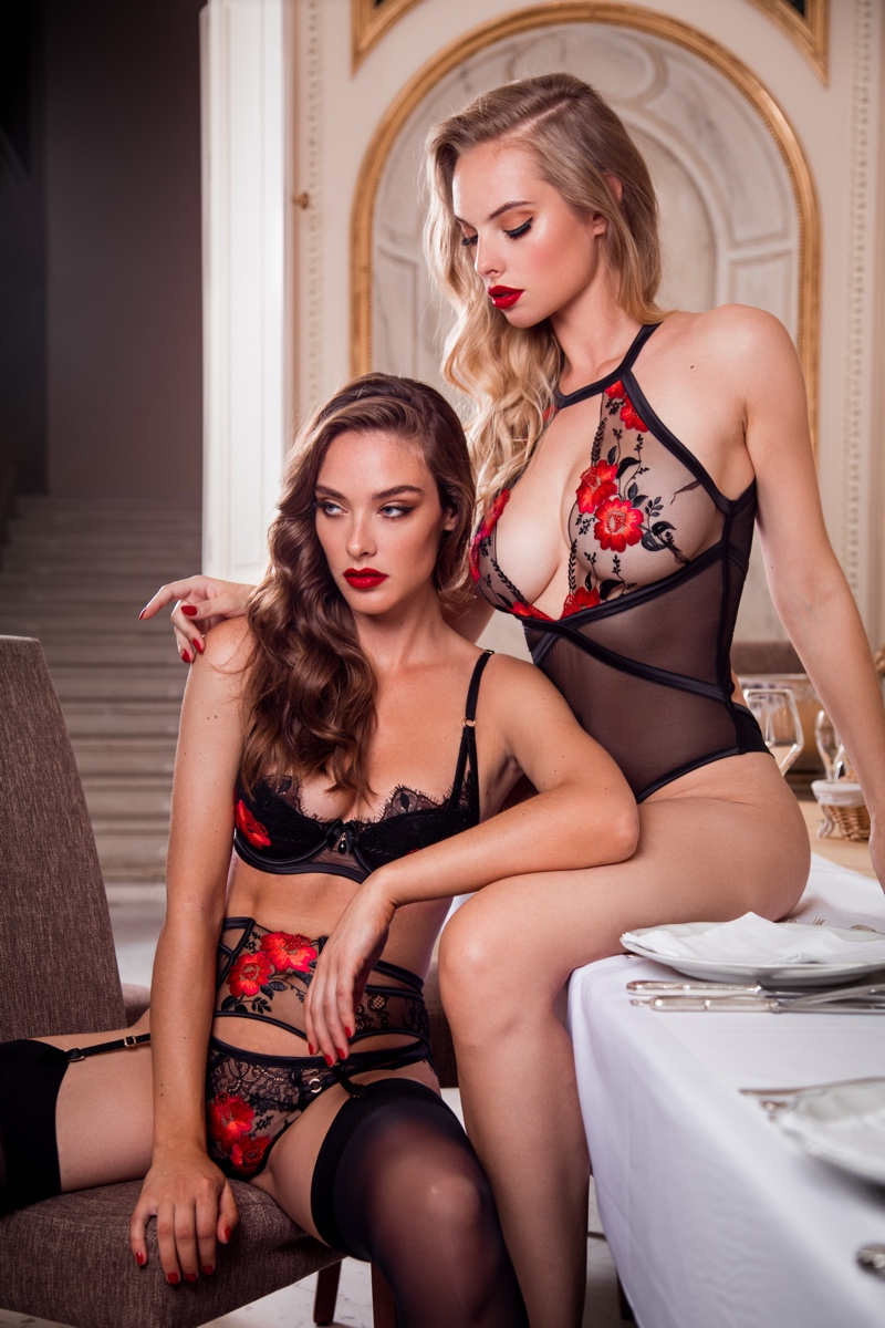 Charlie Dupont and DIoni Tabbers star in Honey Birdette Indecent Manor campaign