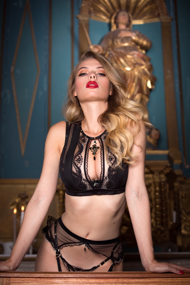 An image from the Honey Birdette Indecent Manor campaign