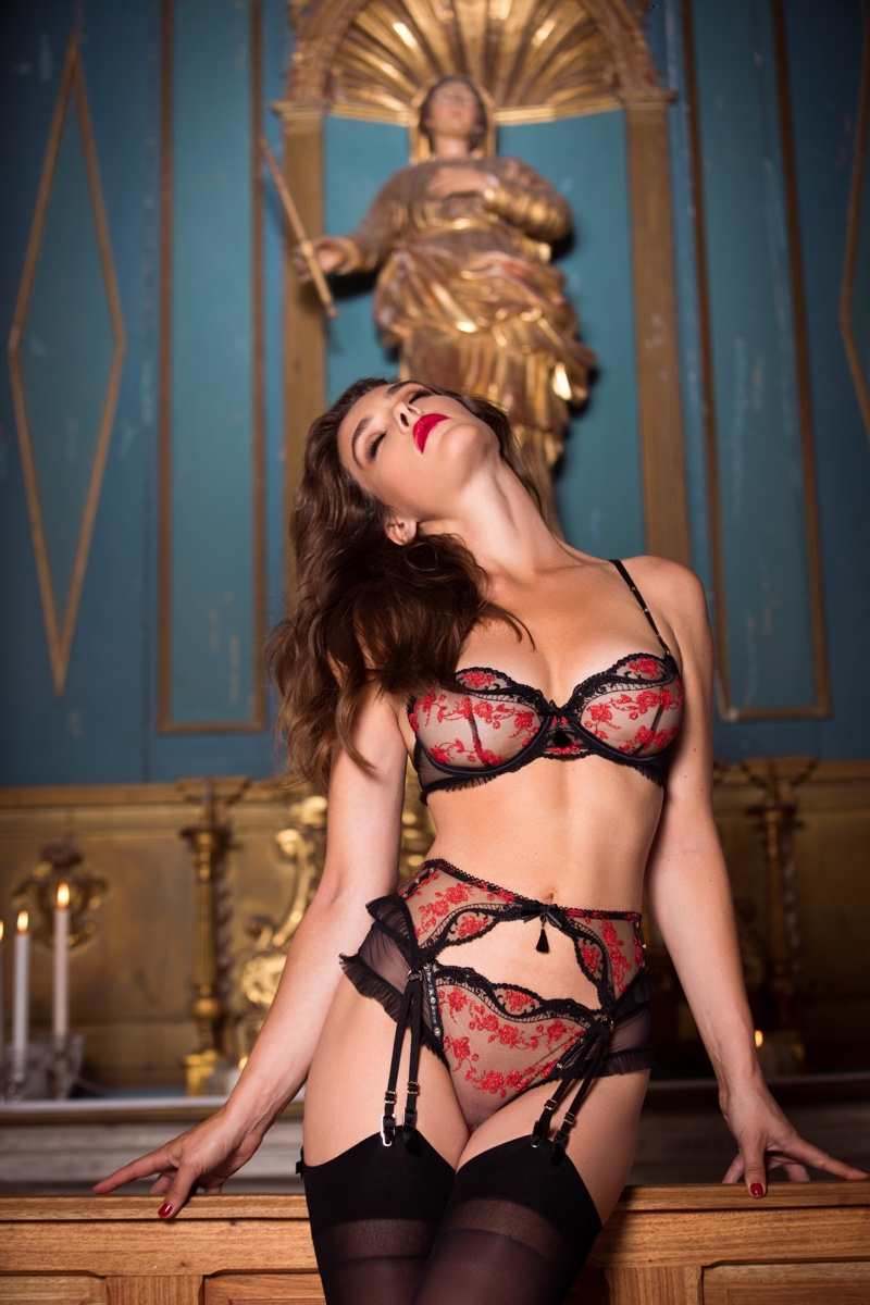 Charlie Dupont sizzles in Honey Birdette Indecent Manor campaign