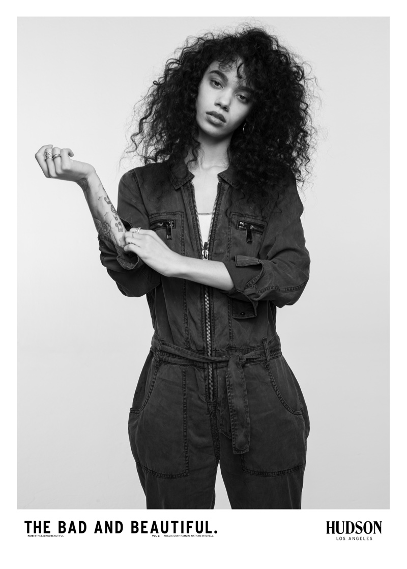 Indyamarie Jean stars in Hudson Jeans fall-winter 2018 campaign