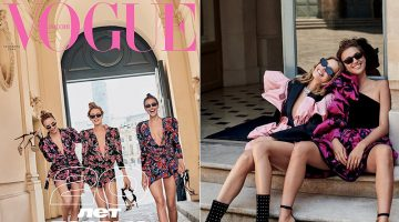 Irina, Natalia & Natasha Unite for Vogue Russia's 20th Anniversary Issue