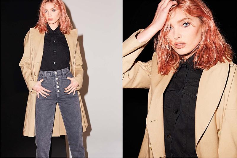 Model Elsa Hosk fronts J Brand fall-winter 2018 campaign