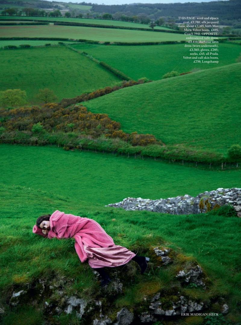 Jacquelyn Jablonski Models Dreamy Dresses in Harper's Bazaar UK