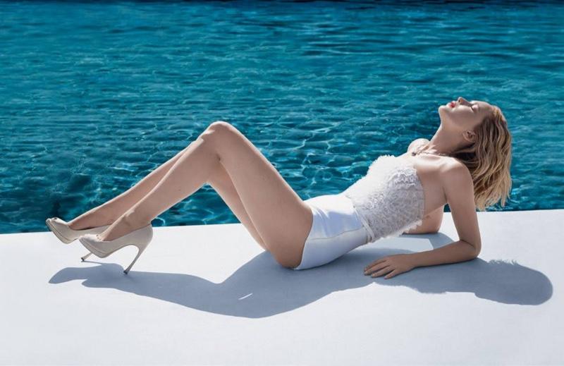 Actress Jennifer Lawrence flaunts her legs for Dior Joy fragrance