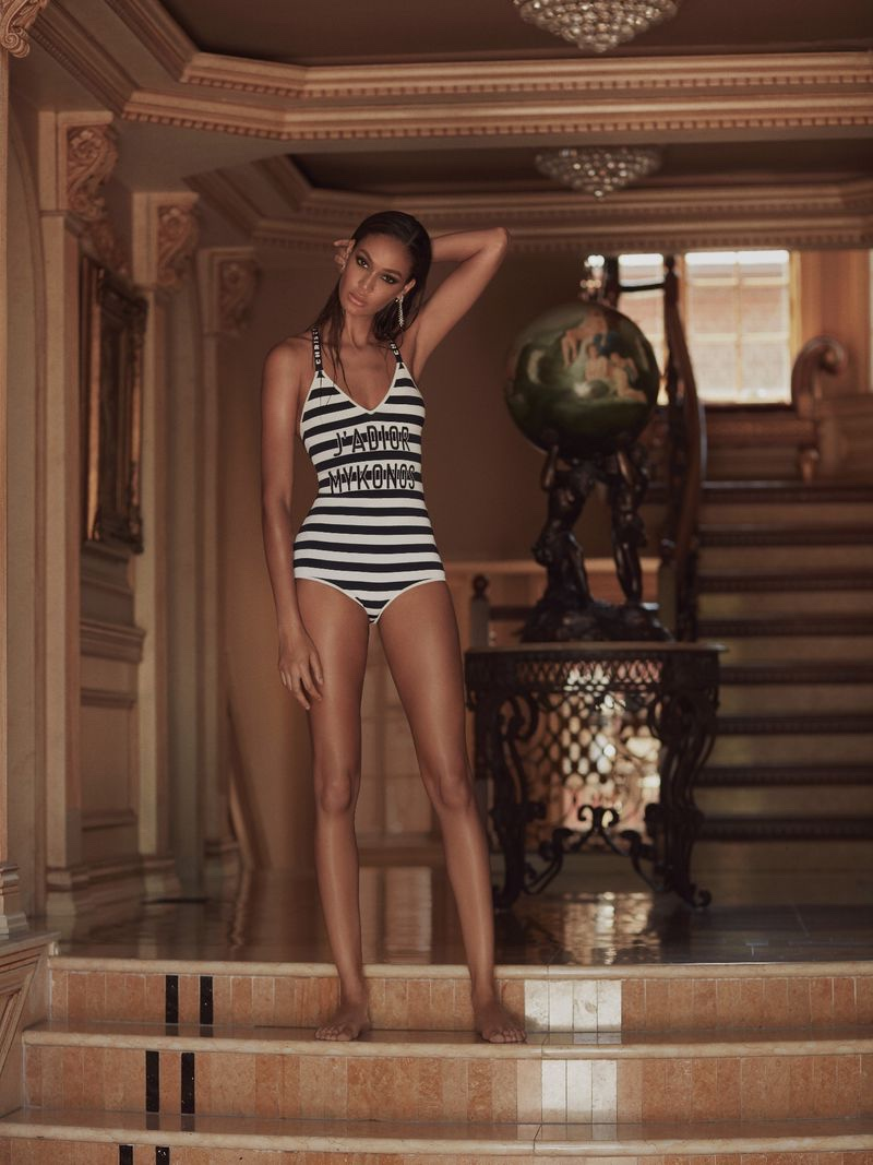 Joan Smalls Takes a Dip in the Pool for Harper's Bazaar Greece