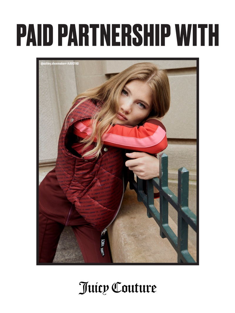 Ashley Shoemaker fronts Juicy Couture fall-winter 2018 campaign