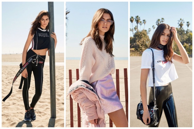 Karl Lagerfeld x Kaia Gerber clothing collaboration