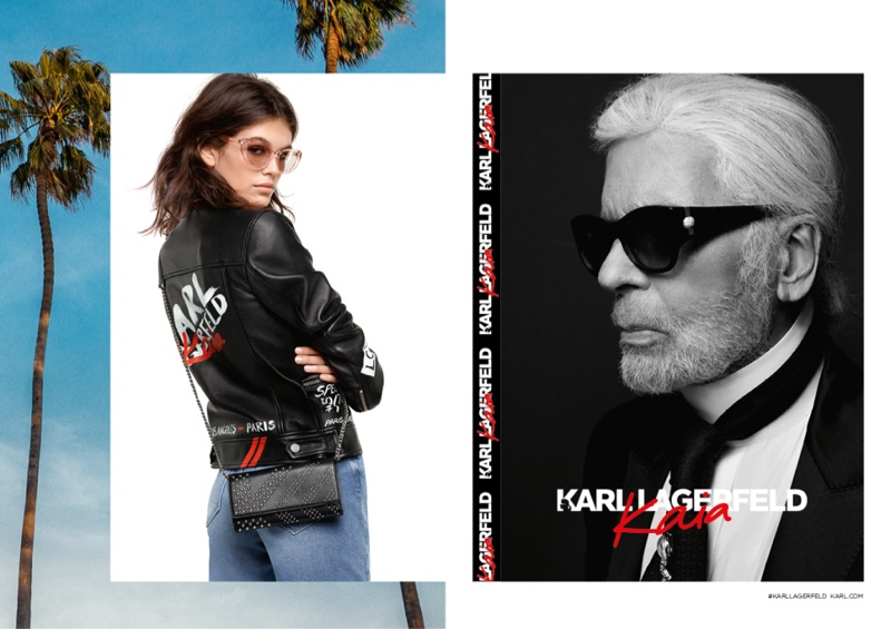 Model Kaia Gerber fronts Karl Lagerfeld x Kaia Gerber campaign