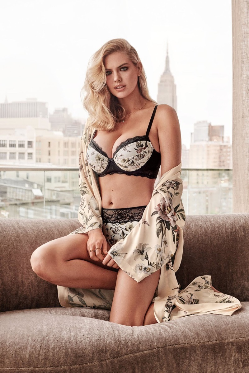 Yamamay taps Kate Upton for its fall-winter 2018 lingerie campaign