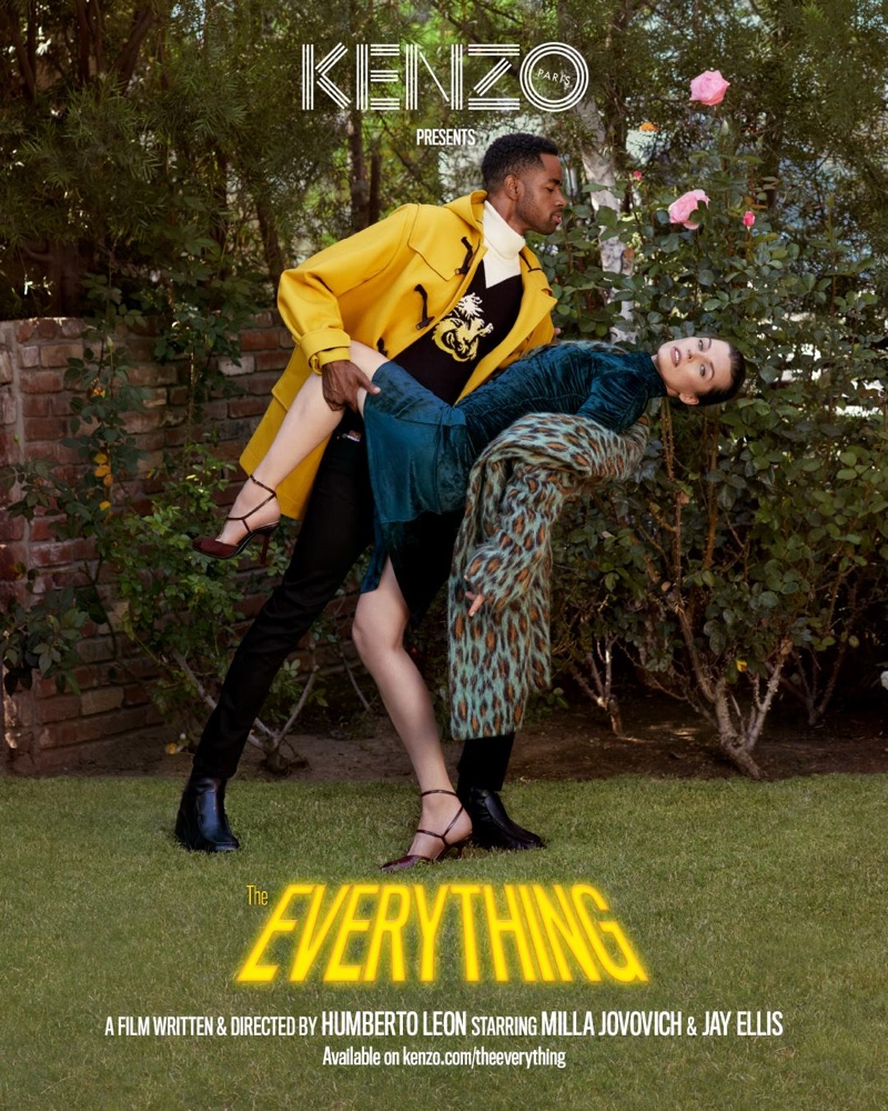 Jay Ellis and Milla Jovovich front Kenzo fall-winter 2018 campaign