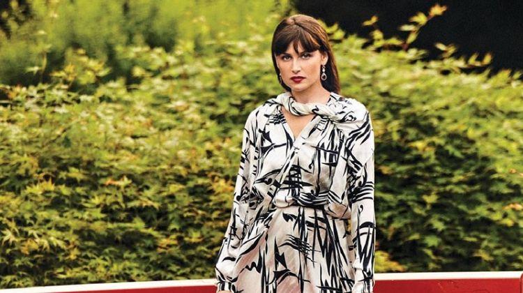 Laetitia Casta Wears Glam Looks in Tokyo for Grazia France