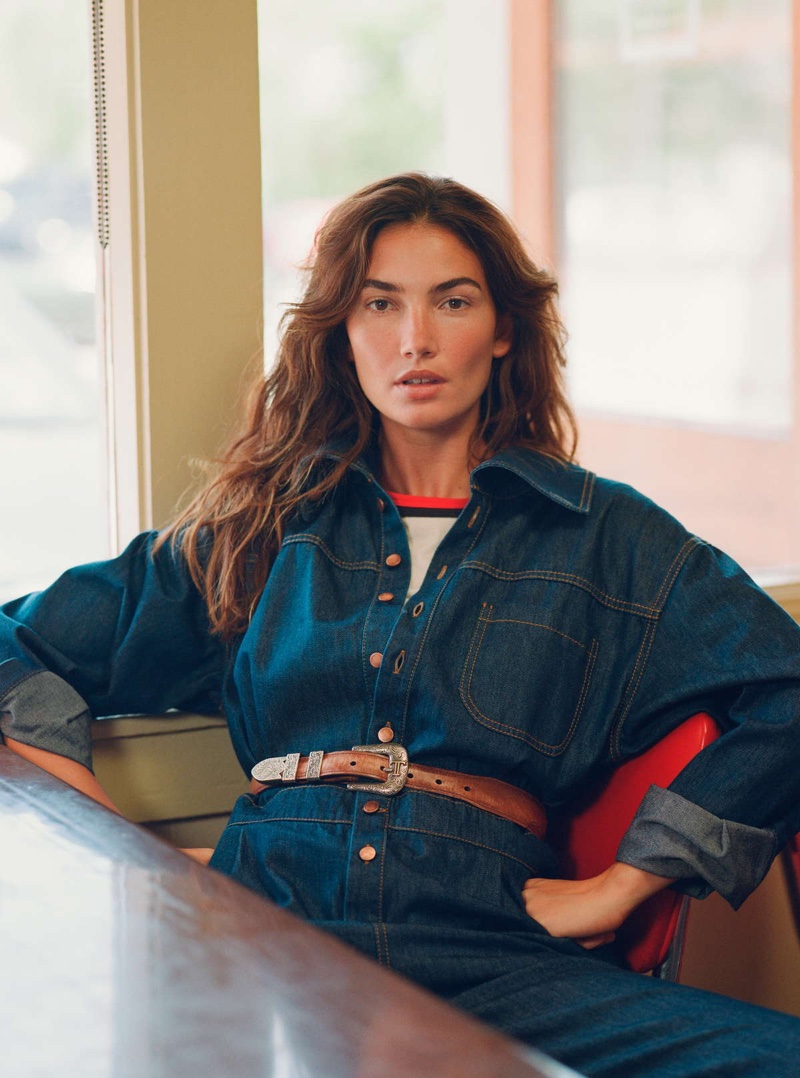 Lily Aldridge Poses in Chic Country Looks for InStyle