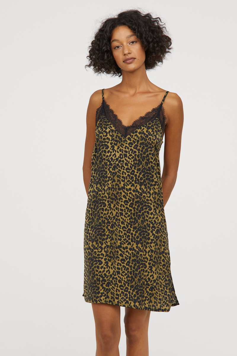 Love Stories x H&M Satin Nightgown in Leopard Print $34.99