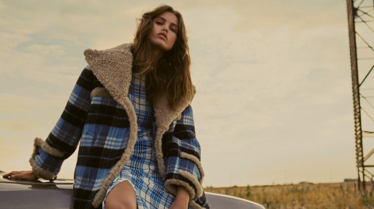 Luna Bijl Goes Grunge in Plaid Style for PORTER Edit