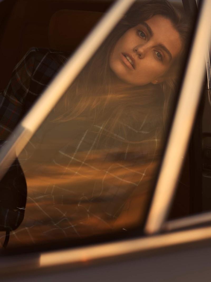 Luna Bijl Goes Grunge in Plaid Style for PORTER Edit