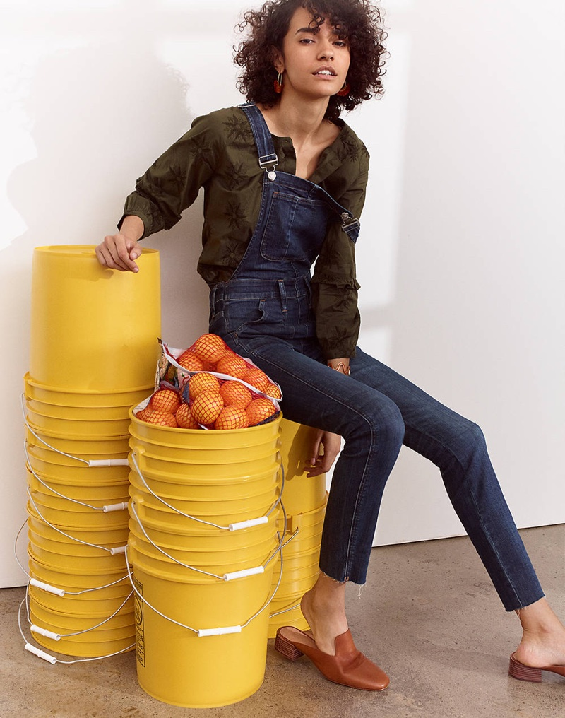 Madewell Skinny Overalls: Eco Edition and The Willa Loafer Mule