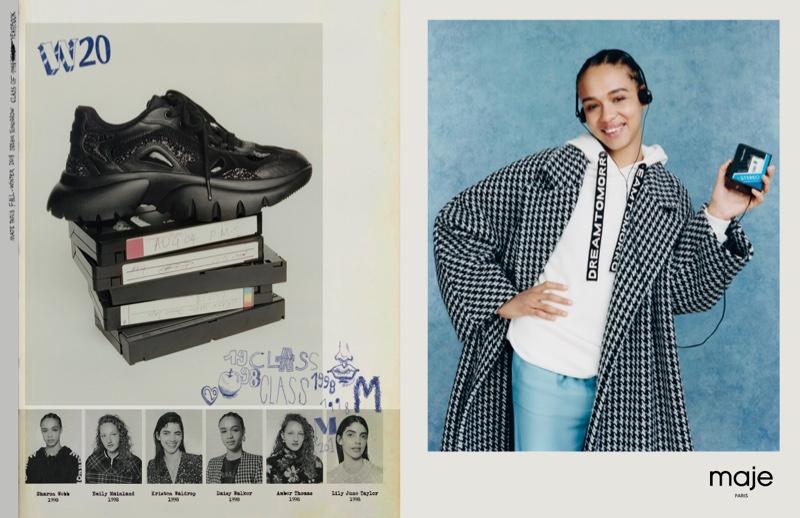 Serena Sy stars in Maje fall-winter 2018 campaign