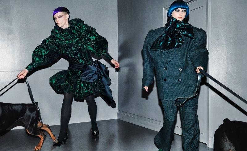 Anya Lyagoshina and Nika Cole star in Marc Jacobs fall-winter 2018 campaign
