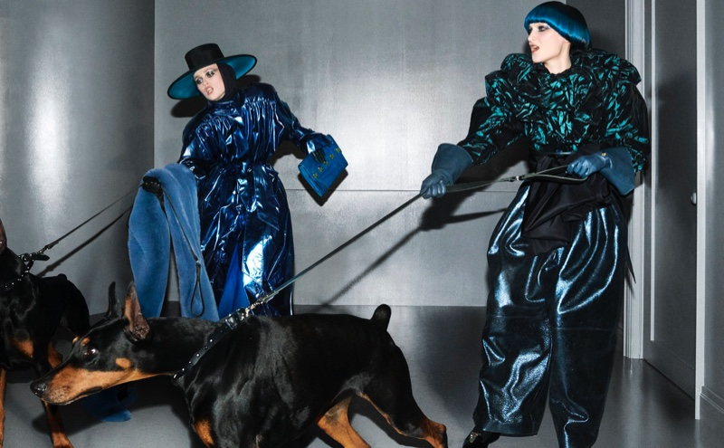 Rianne van Rompaey and Nika Cole front Marc Jacobs fall-winter 2018 campaign